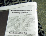 bed bug news, visits, bed bug free, newspaper, bed bug articles